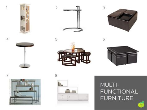 multipurpose furniture for small spaces