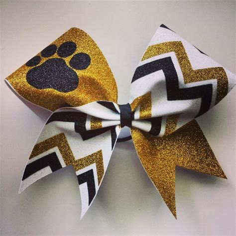 and gold bows white gold and black glitter chevron bow with paw bragabit