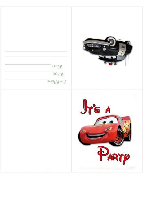 printable birthday invitations cars disney cars birthday invitation free birthday party