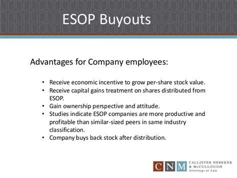 section 1042 esop employee stock onwership plan esop buyouts