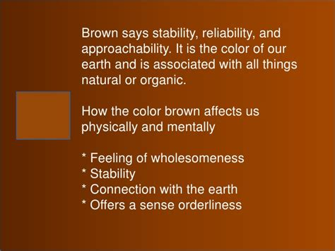 color brown meaning color meaning symbolism and psychology in one s personality