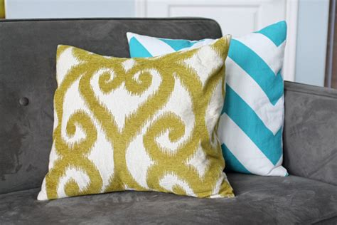 How To Make Envelope Pillow Covers by Envelope Pillow Cover Tutorial School Of Decorating By