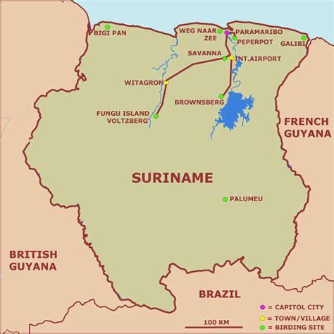 surinam map map of suriname republic of suriname maps mapsof net