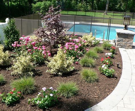 garden pool ideas triyae backyard landscaping ideas around pool