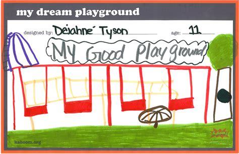 design a dream playground kids at imagine southeast charter school help us design