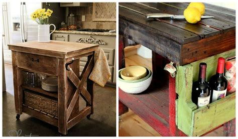 homemade kitchen island ideas 30 rustic diy kitchen island ideas