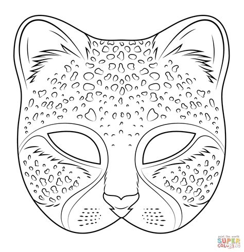 printable endangered animal masks cheetah mask super coloring pinteres