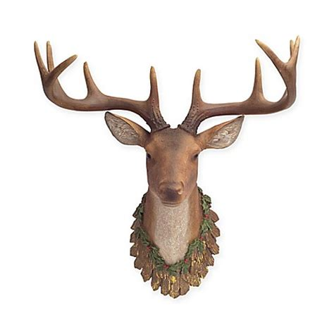 christmas decorations with deer head pic wall mounted deer d 233 cor bed bath beyond