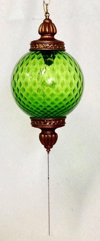 large glow in the blown glass globe green mid century italian blown glass globe pendant hanging light at 1stdibs
