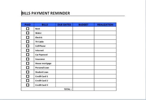 car payment schedule template bills payment schedule template can act as a guide in
