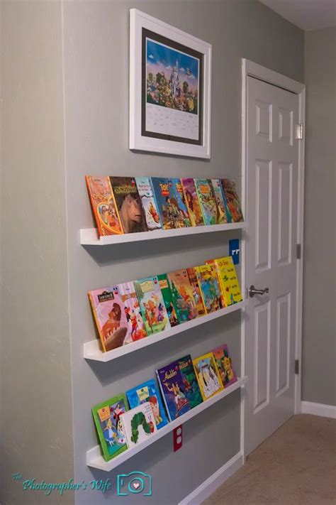ikea picture ledges for children s front facing book
