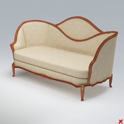 old fashioned couch 3d sofa old fashioned
