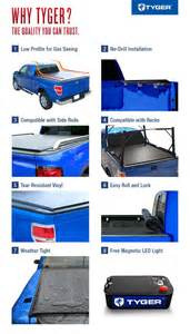 Tyger Tonneau Cover Nissan Frontier Tyger Rolock Low Profile Roll Up Truck Bed Tonneau Cover