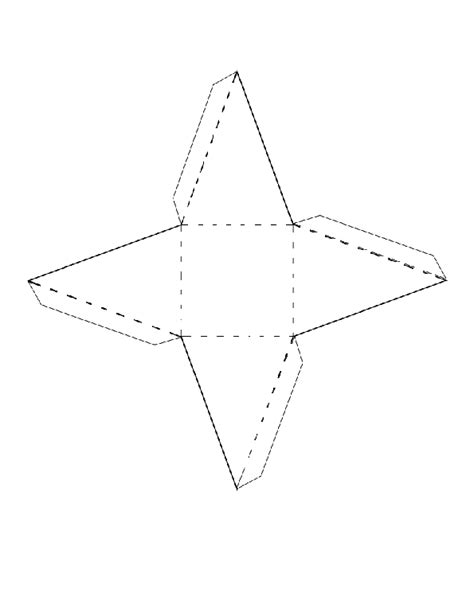 How To Make A 3d Triangular Pyramid Out Of Paper - square based pyramid net search richard
