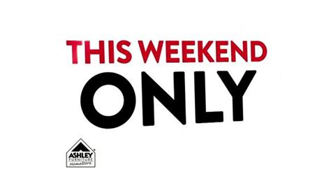 ashley furniture homestore tv spot  weekend