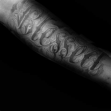 blessed tattoo on forearm 60 blessed tattoos for biblical lettering design ideas
