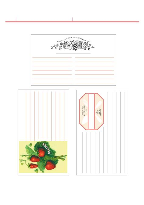 Template For Hallmark Recipe Cards by Sle Recipe Card Menu Recipe Cost Spreadsheet