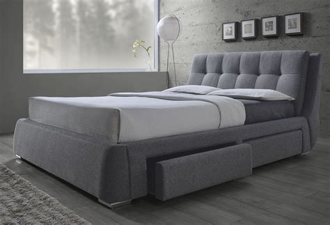 bed and fenbrook gray platform storage bed from coaster