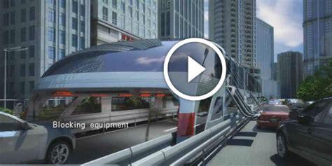 future transportation technology    doorstep china straddling bus   smaller