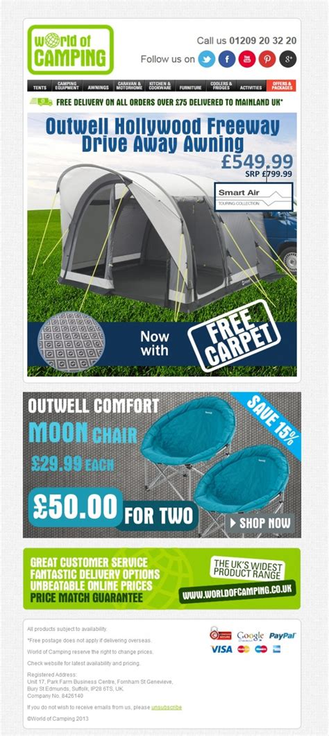 Caravan Awnings Direct World Of Camping Newsletter Outwell Freeway
