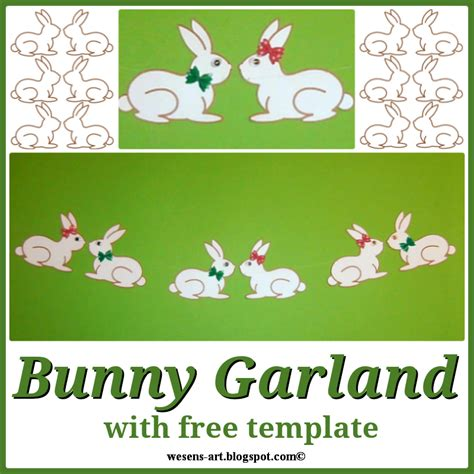 bunny garland template wesens last minute easter ideas