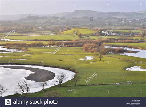 what are flood plains flood plains in the towy valley viewed from dryslwyn