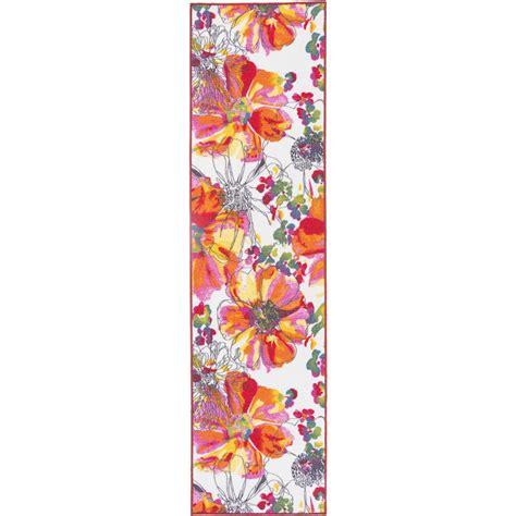 non skid rug runners modern bright flowers non slip non skid multi area rug runner 2 ft x 7 ft 503 multi 2x7