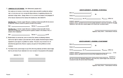 form construction proposal template work estimate forms contract pr