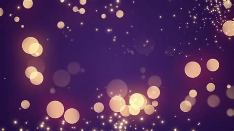 Golden Bokeh Glowing Twinkling Sparkling Particles Circles Free Twinkle Purple Backgrounds