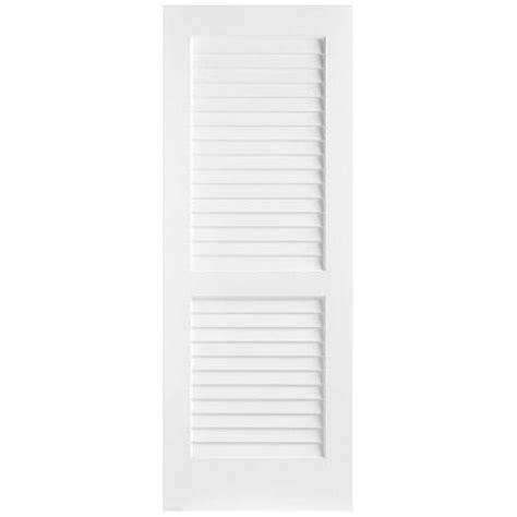 interior louvered doors home depot masonite 36 in x 80 in plantation smooth full louver