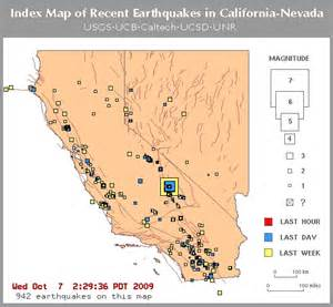recent earthquakes in california and nevada so far 942 in