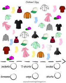 clothing themed words vocabulary clothes i spy kids young learners i spy