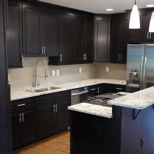 espresso kitchen cabinets with granite pin by carla on for the home