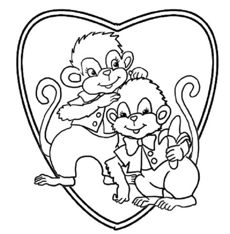 monkey love coloring pages 93 best animal images on pinterest coloring books