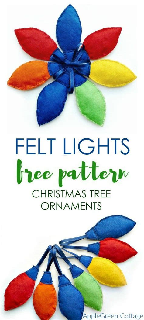 pattern for felt christmas lights 385 best free sewing patterns images on pinterest sewing