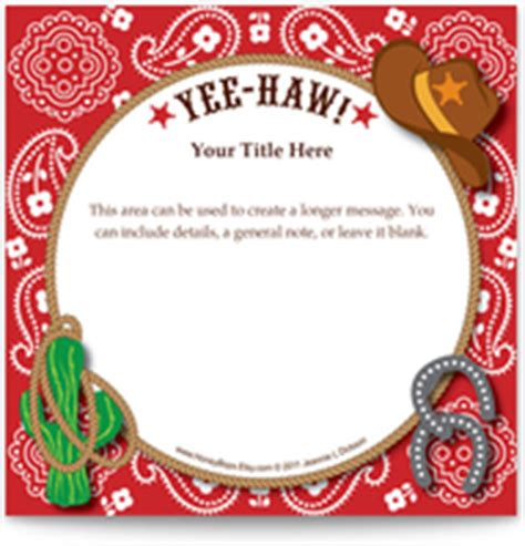free western invitation templates invitations ecards ideas planning