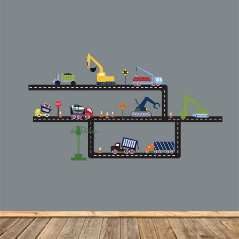construction wall stickers children wall decals nursery wall decals construction wall