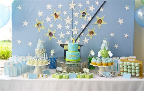 birthday decorations ideas at home blue theme decoration youtube the inspired occasion magical 1st birthday in blue white