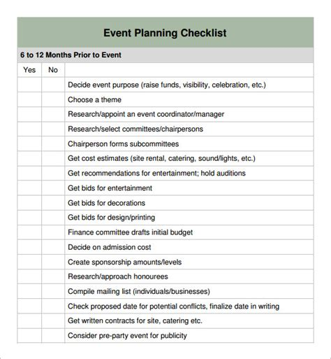 event planning checklist 11 download free documents in pdf