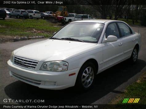 2002 Kia Optima Lx Clear White 2002 Kia Optima Lx V6 Beige Interior
