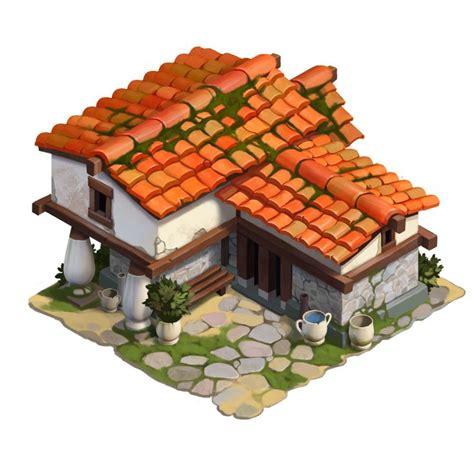 the greek house artstation ancient greek house roman semenenko cartoon buildings ancient pt 1