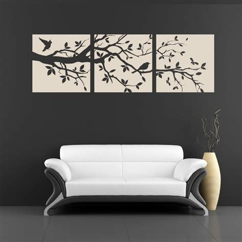 Rose Wall Stickers stickers mural 3 cadres nature