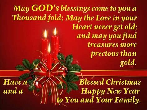 blessed christmas happy new year to you and your family