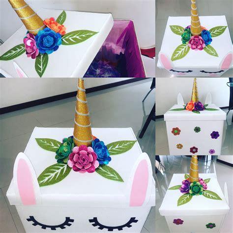 como decorar letras de madera de unicornio caja sorpresa decorada de unicornio