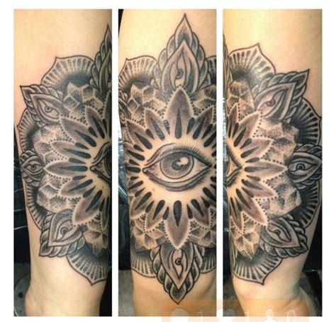 third eye tattoo mandala third eye occult ink
