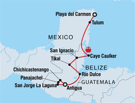map of mexico and belize mexico belize guatemala tour mayan encounter helping