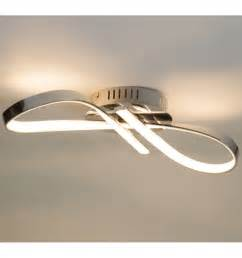 ceiling light design led chromed infinite ribbon 15 w