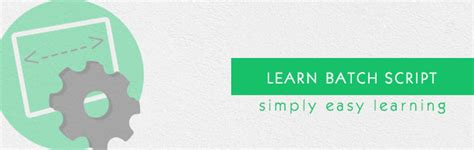 tutorialspoint batch batch script tutorial