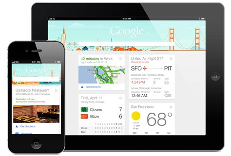 layout google now flat design trends in websites and mobile applications