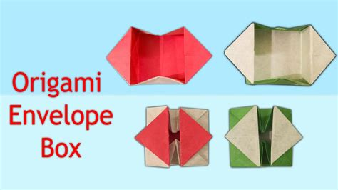 How Do You Make An Origami Envelope - how to make an origami pop out envelope box origami
